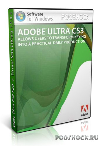 Ad0be Ultra Cs3 Full + Virtual Sets Library 1,2,3,4 (все библиотеки)