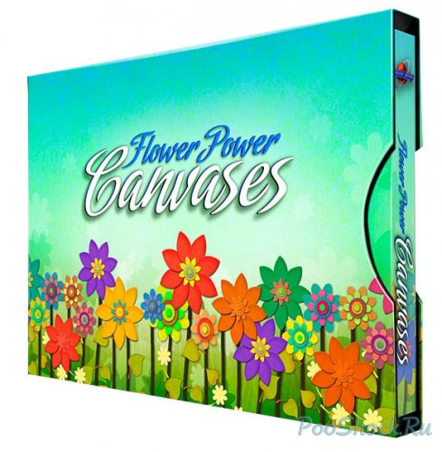 Digital Juice - Flower Power Canvases