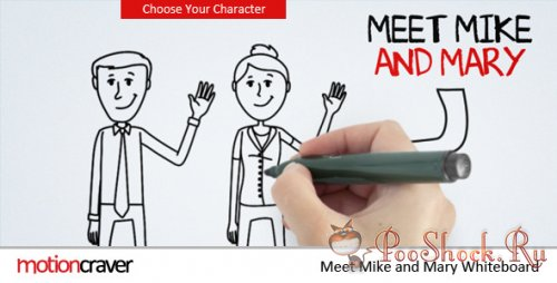 VideoHive - Meet Mike & Mary Whiteboard (AE Project)