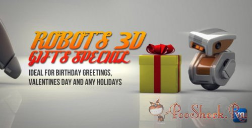Videohive - Robots 3D gifts special (.aep)