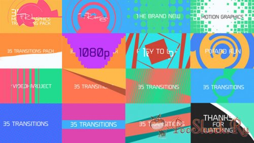 V.H. - 35 Cool Motion Graphics Transitions + Adorage