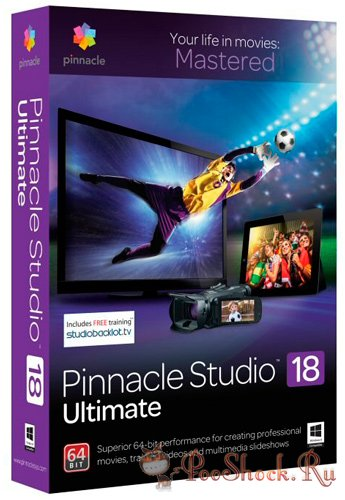 Pinnacle Studio 18.0.1 Ultimate (64-bit) + Bonus Content