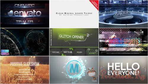 VideoHivePack - 176 (After Effects Projects Pack)