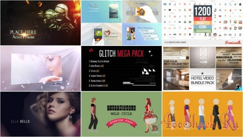 VideoHivePack - 188 (After Effects Projects Pack)