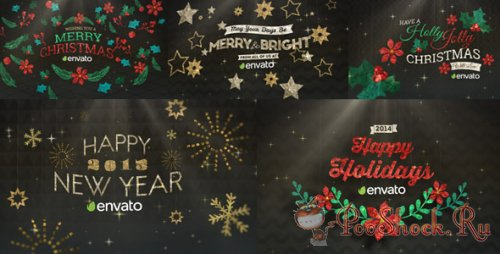 Videohive - Hanging Holiday Greetings Pack
