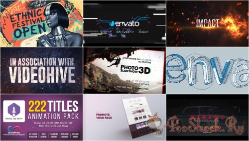 VideoHivePack - 496 (After Effects Projects Pack)