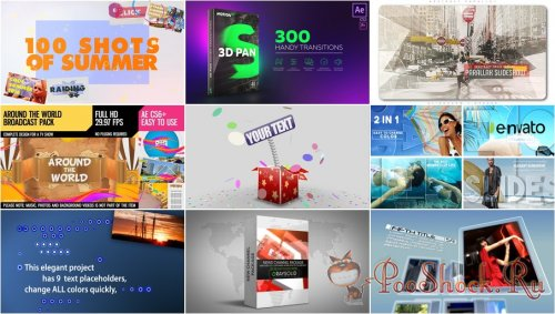 VideoHivePack - 578 (After Effects Projects Pack)