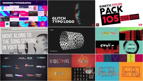 VideoHivePack - 771 (After Effects Projects Pack) - [Typography]