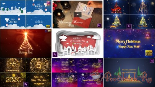 Premiere Pro Projects Pack - 30 (MOGRT) - [Christmas]