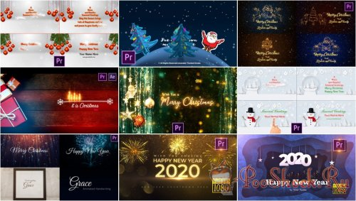 Premiere Pro Projects Pack - 31 (MOGRT) - [Christmas]