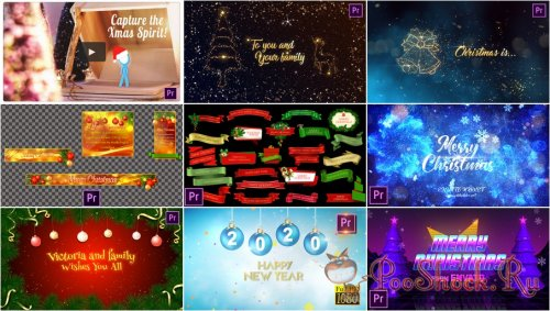Premiere Pro Projects Pack - 32 (MOGRT) - [Christmas]