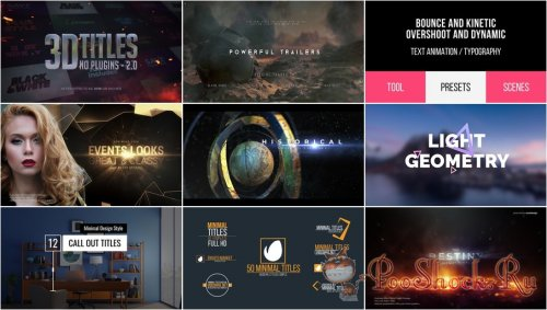 VideoHivePack - 796 (After Effects Projects Pack) - [Titles]